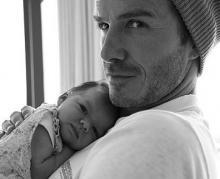David Beckham dan Bayinya. (Dok. David Beckham)