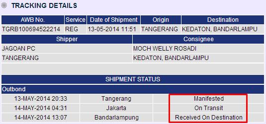You are currently viewing Status Pengiriman (Shipment Status) di JNE.co.id